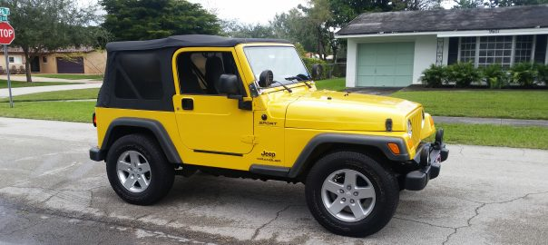 TJ Wrangler with JK Rims